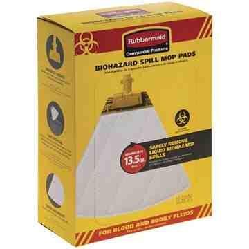 Biohazard Spill Mop Pads 10/cs- Yellow, 10/PK