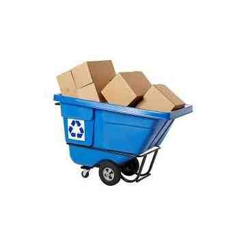 Recycling Tilt Truck Standard Duty 1/2 cu.yd - Blue, 1/EA