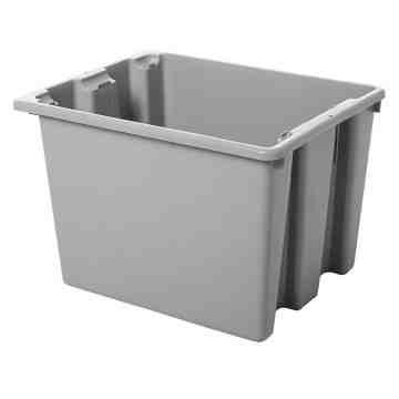 "Palletote Box - Stack & Nest 19.5x15.5x13"" - Gray, 10/EA"