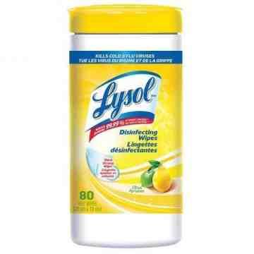 Lysol Disinfecting Wipes - Citrus - 6/80ct [CB718250]