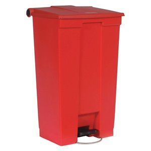 Mobile Step On Can Cap 23G - Red, 1/EA