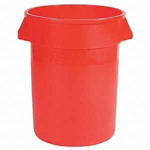Brute Container Straightwall Unbrand 55G - Red, 3/EA