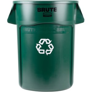 Brute Container Vented 44G w/Recycling - Green[2643], 4/EA