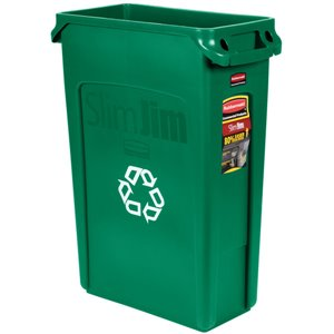 Slim Jim w/Venting Container 23G w/Recycle - Green, 4/EA