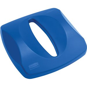 Paper Recycling Top Fits 3569-88 Container - Blue, 4/EA