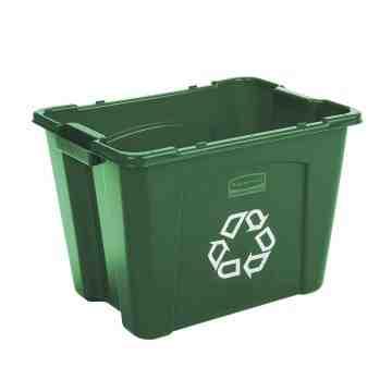 Recycling Box 14G - Green, 6/EA