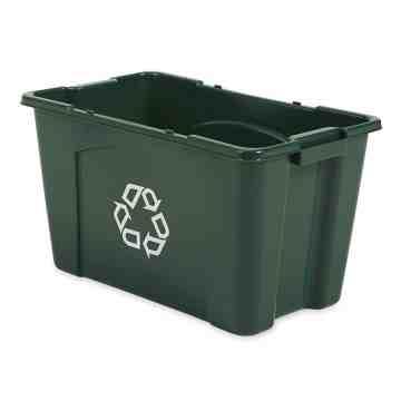 Recycling Box 18G - Green, 6/EA