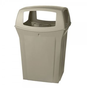Ranger Container 45G w/ 4 Openings - Beige, 1/EA