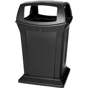 Ranger Container 45G w/ 4 Openings - Black, 1/EA