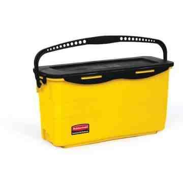 Microfiber Disinfecting Charging Bucket w/Lid - Yellow, 3/EA