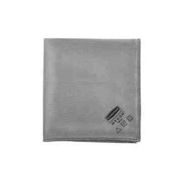 "Microfiber Hygen Glass Cloth 16x16"" - Gray, 12/CS"