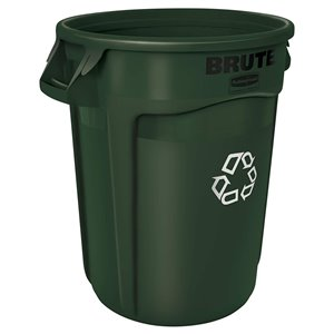 Brute Container Vented 32G - Dark Green [2632], 6/EA