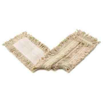 Cut End Disposable Cotton Dust Mop 24' - White, 12/EA