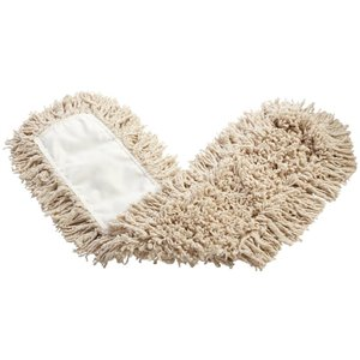 """Cotton Dust Mop 24"""" - White, 12/EA"""