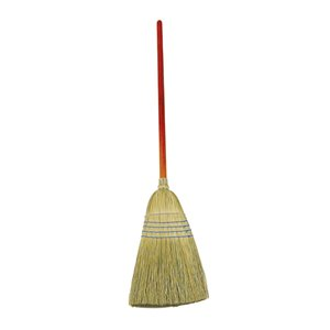 """Corn Broom Standard 1 1/8""""Dia Stained/Lacquered Handle - Blue, 12/EA"""