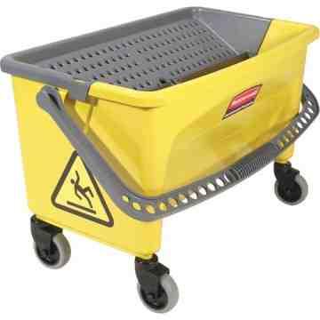 Microfiber Press Wring Bucket 43Qt - Yellow, 1/EA