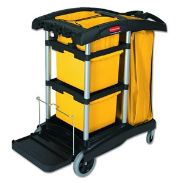 Microfiber Janitors Cart, 1/EA