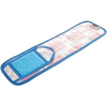"Microfiber Hygen Wet Floor Pad w/Scrubber 18"" - Blue, 6/CS"