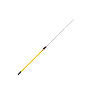 Microfiber Hygen QC Straight Ext. Handle 4'-8'- Yellow, 6/EA