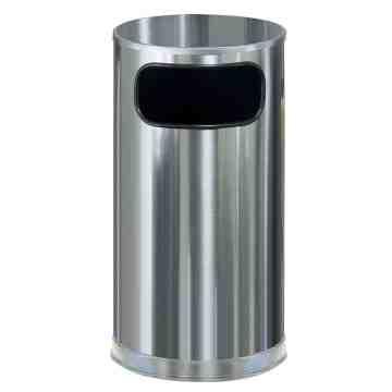 Metallic Series - Round Trash Receptacle Flat Top 12G ,  1 / EA
