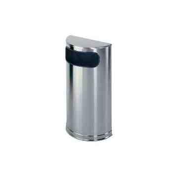 Metallic Series - Half Round Trash Receptacle 9G ,  1 / EA