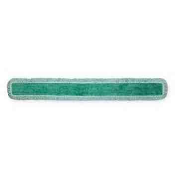 "Microfiber Hygen Dust Floor Pad w/Fringe 60"" - Green, 6/CS"