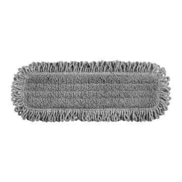 "Microfiber Hygen Dust Floor Pad w/Fringe 18""-Gray[Q418], 6/CS"
