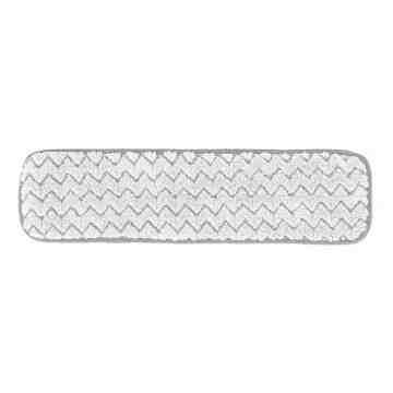 """Microfiber Hygen Dry Floor Pad 18"""" - White, 12/CS"""