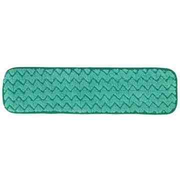 """Microfiber Hygen Dry Floor Pad 18"""" - Green, 12/CS"""