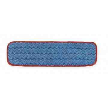 """Microfiber Hygen Wet Floor Pad 18"""" - Red, 12/CS"""