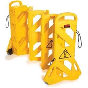 Portable Mobile Barrier (Extends to 13ft), 1/EA