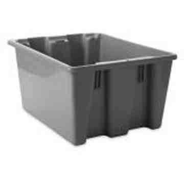 "Palletote Box - Stack & Nest 23.5x19.5x10"" - Gray, 10/EA"