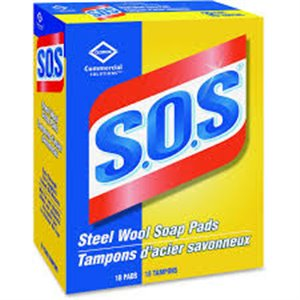 SOS - Steel Wool Soap Pads Commercial Solutions - 12x18ct