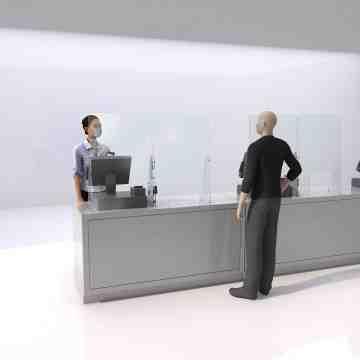 """Acrylic Shield, 14W"""" x 36H"""" Retail with Window - 1"""