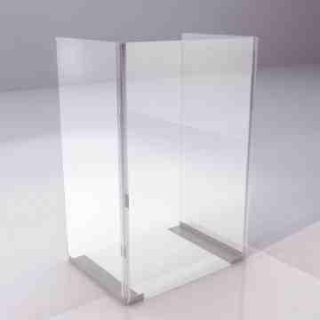 """Acrylic Shield, 24W"""" x 36H"""" Retail, Mountable - 4"""