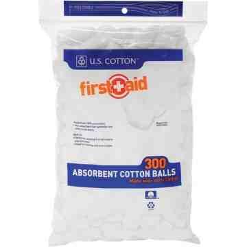 Absorbent Cotton Balls, 300/PK, MDEL Class 1