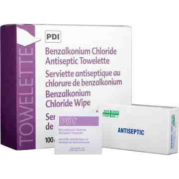 Benzalkonium Chloride (BZK) Antiseptic Towelettes, 100PK