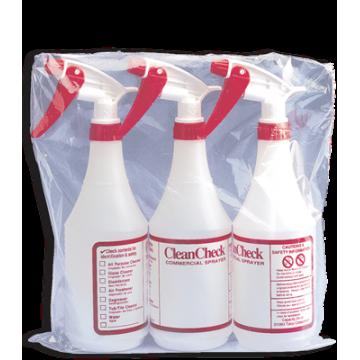 Bottle - Clean Check 3/pk - 24oz - w/Sprayers, 32 Units / Price Per PK