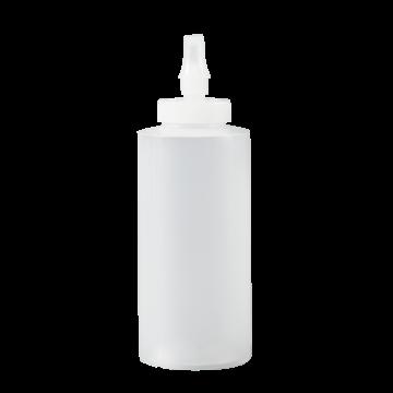Bottle - Squeeze w/Ribbon Applicator - 12oz - MDPE Natural, 300 Units / Price Per EA