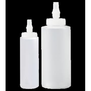 Bottle - Squeeze w/Ribbon Applicator - 8oz - MDPE Natural, 350 Units / Price Per EA