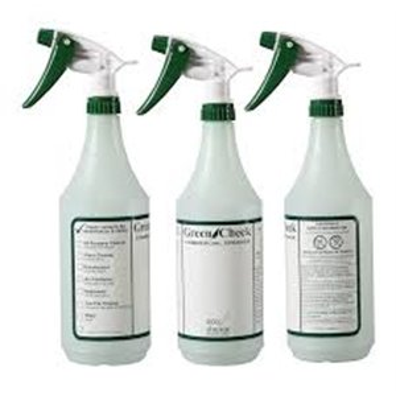 Bottle - Green Check 3/pk - 32oz - w/Sprayers, 24 Units / Price Per PK