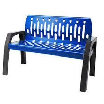 Bench - Steel Stream 6' - Grey/Blue
