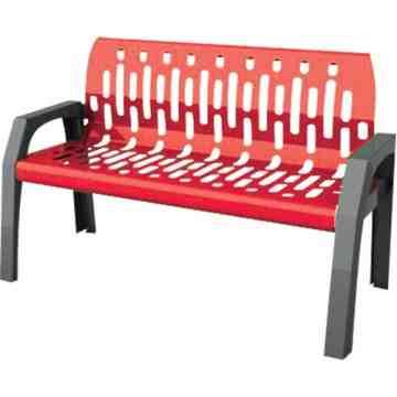 Bench - Steel Stream 6' - Grey/Red