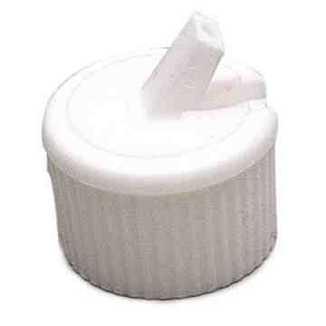 Closure - Polytop - 28/400 - White, 25 Units / Price Per PK