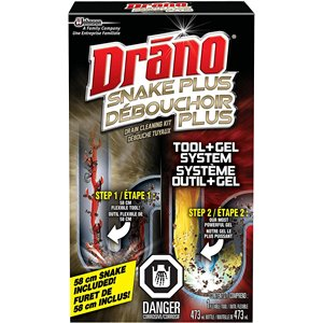 Drano - Snake Plus Drain Cleaning Kit - 6/473ml