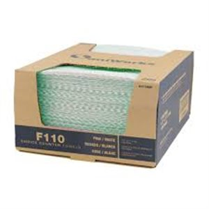 """Food Service Wipers Choice Towel 12x21""""1/4Fold Countercase Dual End 150/cs - Green"""
