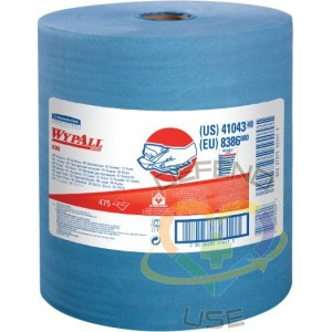 """X80 Wipers 13.5"""" x 12.5"""", 475 Sheets/Roll, Blue - 1"""