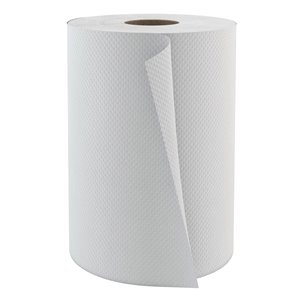 PAPER TOWEL, HAND TOWEL ROLL, SELECT350' WHITE 12 ROLLS/CASE