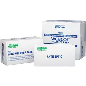 TOPICAL FIRSTAID, ALCOHOL WIPES 100/BOX