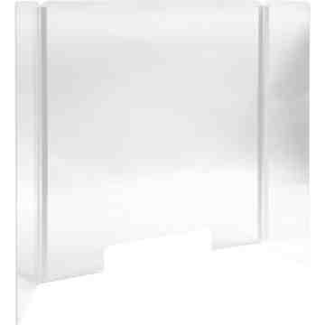 "Countertop Safety Shield Acrylic Plexiglass, 24 W x 32""H"